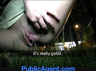 PublicAgent Sexy body brunette loves my charm and money.