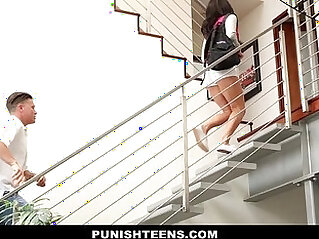 PunishTeens Naughty Rachael Madori Gets Punished Gagged By Stepfather