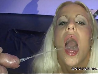 Slut gets mouth fucking with facial cumshot