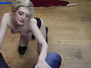 Wild chick shows striptease and masturbation