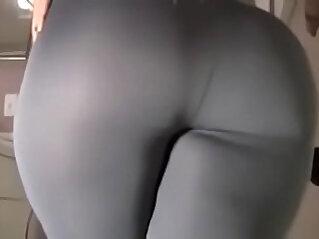 Spicy J yoga pants tear dildo ride