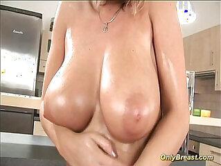 Big breasts babe hard