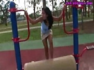 Asian Teen Playground Fun