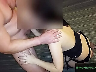 Submissive Amateur wife with Stranger