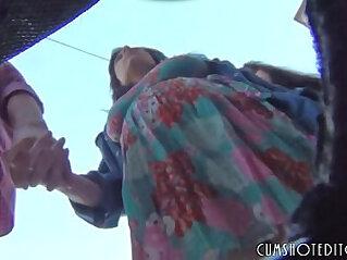 Pregnant Girl Public Upskirt Voyeur