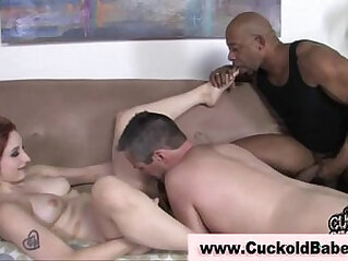 Nasty cuckold fetish slut gets creampie