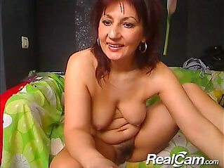 Old mature lady does private show