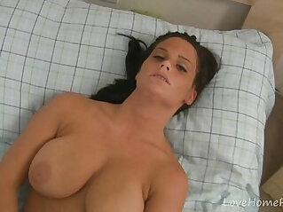 Busty maid decides to masturbate with dildo