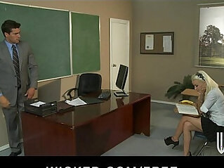 Slutty schoolgirl Stevie Shay fucks her Spanish teacher