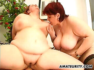 hot fat amateur asian Milf in a threesome with facial