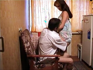 Young asian girl get fucked by her father