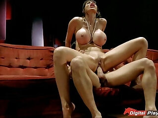 Big tits Eva Karera blows and sits on top for an anal pounding
