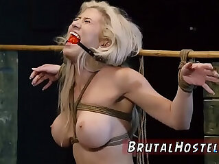 Bondage anal gang rough and blowjob cum swallow Big breasted blond hottie