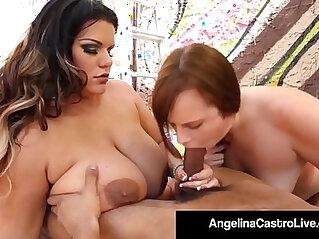 Bbw girls angelina castro and virgo peridot get a cum facial