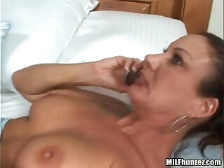 A call from her husband while she gets fucked