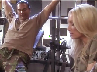 sue diamond fucks marine in gym roon