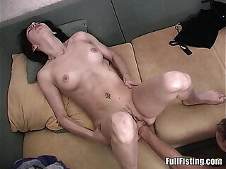 Sexy Girlfriend Tight white Pussy Fisted And Fucked