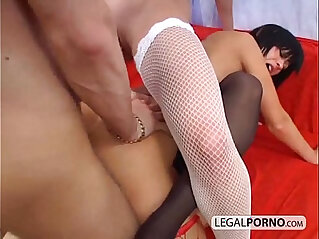 One big cock and fucking three sexy girls TS