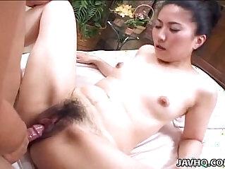 Japanese hottie rides a hard boner