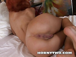 Anal fuck amateur redhead wth big wet pussy lips tight ass by stepbrother