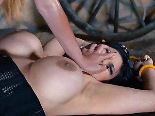 Prisoner Humiliation Milfs Pussy With Strap
