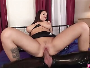 Busty amateur Milf Beauty rides extra WILD on Hard long Cock!