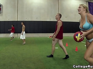 Young Teens Play Strip Dodgeball on College Rules