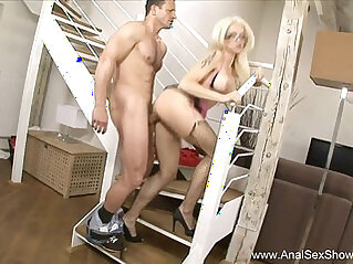 French Blonde MILF Dirty Anal Sex