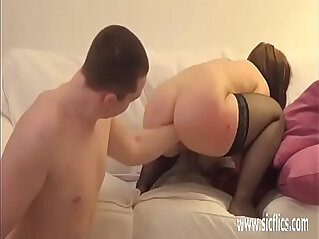 Fisting his submissive GFs wrecked pussy